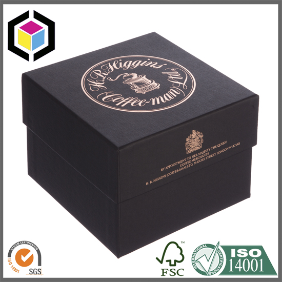 Special Textured Paper Gold Hot Stamping Rigid Gift Box China