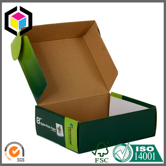 Glossy Color Offset Printing E Flute Corrugated Mailer Box