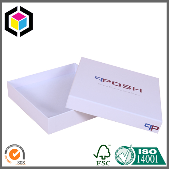 White Color Square Shape Cardboard Gift Paper Box China