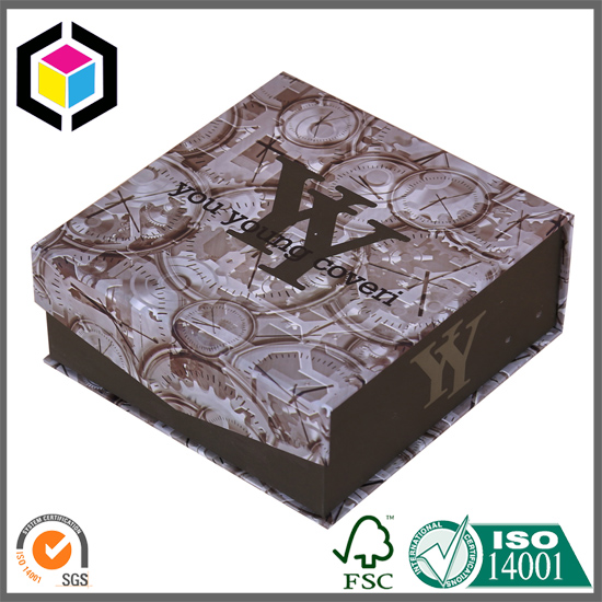 Color Printing Rigid Cardboard Watch Paper Gift Box