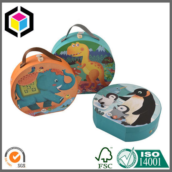 Suitcase Toys Paper Packaging Box with Handle China