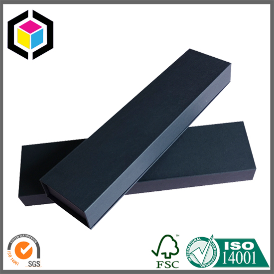 Black Color Rigid Chipboard Paper Box for Folding Ruler