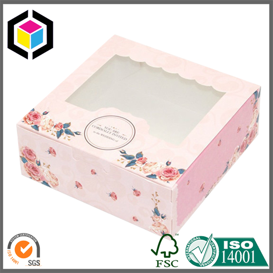 Wholesale Cupcake Biscuit Cookie Candy Color Print Paper Box