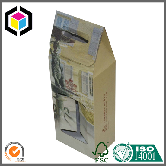 Two Bottle Wine Corrugated Packaging Box