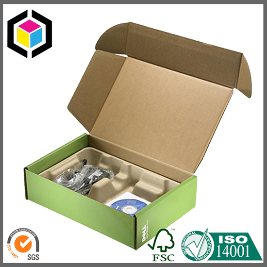 Green Color Litho Print Corrugated Cardboard Mailing Box