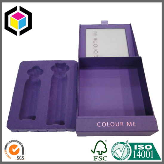 Flocking Surface Plastic Insert Cosmetic Gift Paper Box