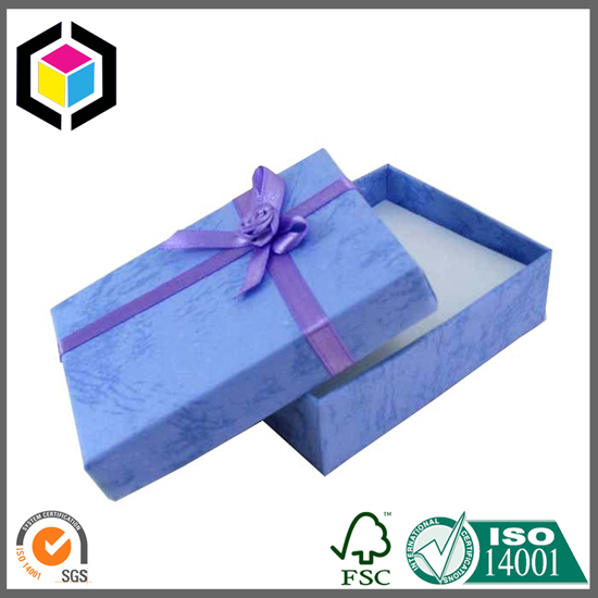 Blue Color Printing Special Surface Gift Paper Box