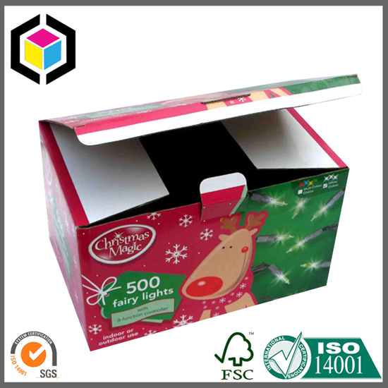 Color Christmas Corrugated Packaging Box