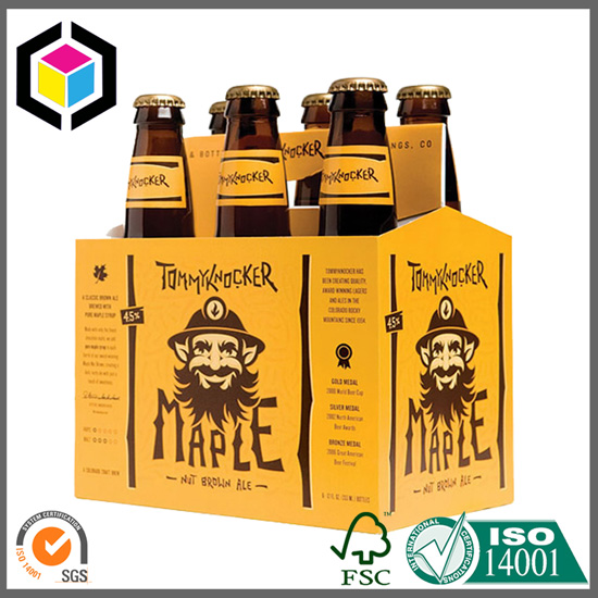 Color Printing 6 Pack Beer Carrier Box