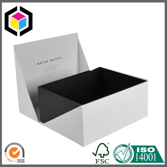 White Color Foldable Gift Paper Box