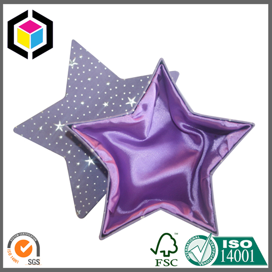 Star Shape Chipboard Gift Jewelry Box