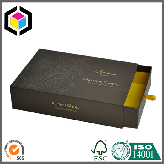 Gold Foil Logo Drawer Cardboard Paper Gift Box
