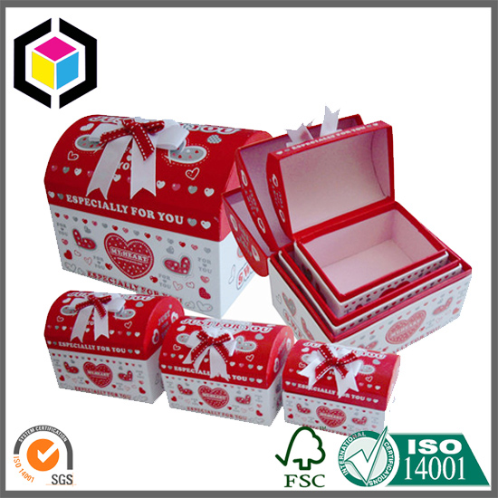 House Shape Rigid Cardboard Jewelry Paper Gift Box Sets
