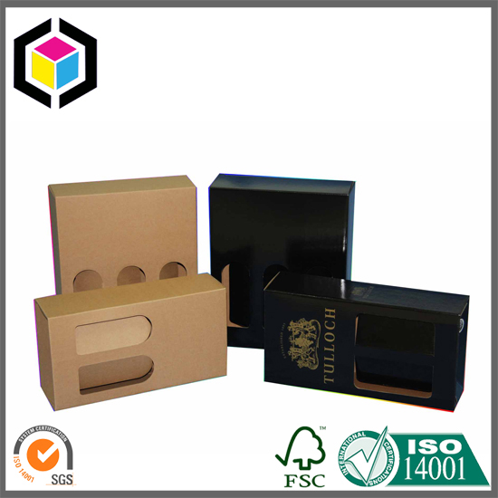 Full Color Offset Print Wine Carrier Corrugated Box