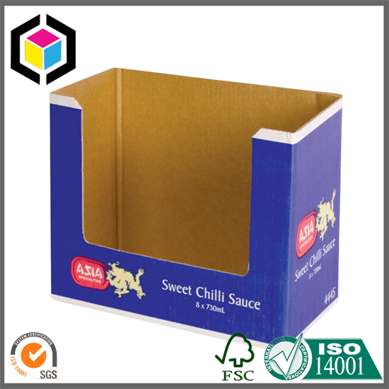 Flexographic Color Print Shelf Ready Packaging Display Box