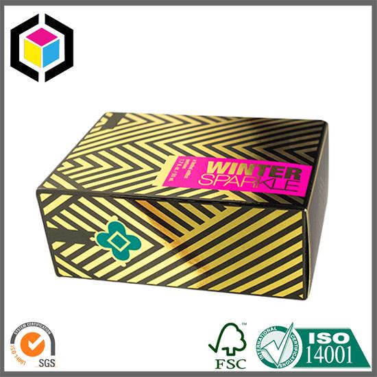 metallic color print perfume paper box