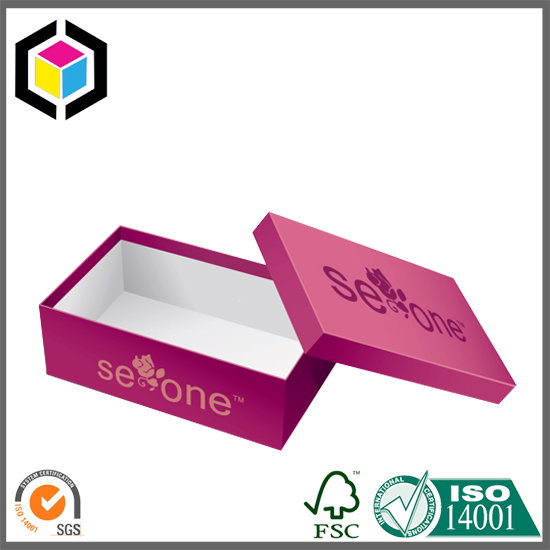 Red Color Printing Rigid Shoes Box, Gift Paper Box