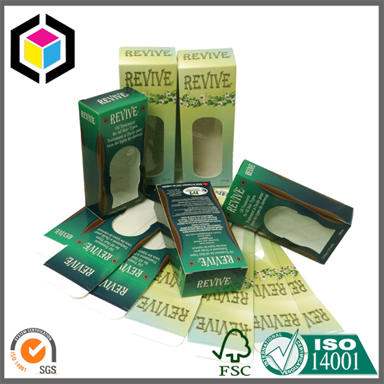 OEM Design Color Print Tuck End Paper Box with Window