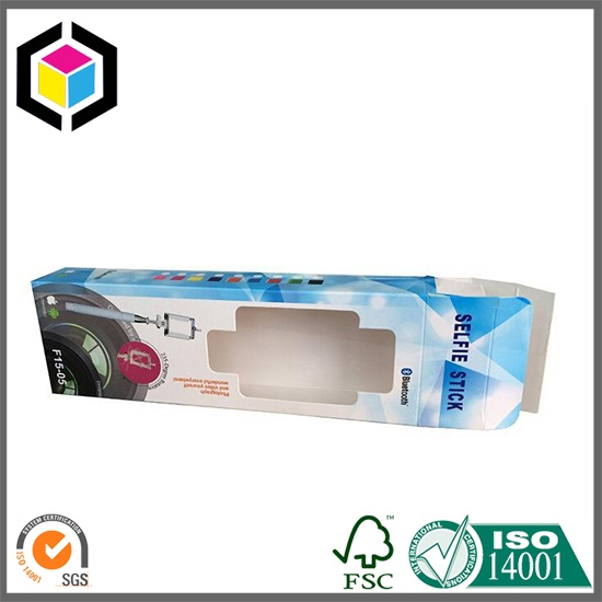 White Paperboard Open Window Color Paper Box