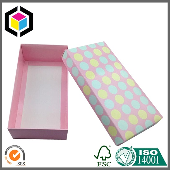Glossy Color Socks Paper Packaging Box with Lid