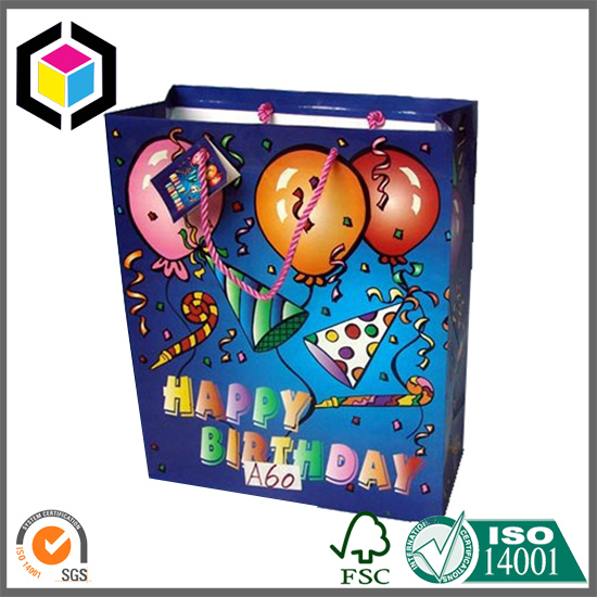 Small Size Wholesale Birthday Paper Bag with Tag