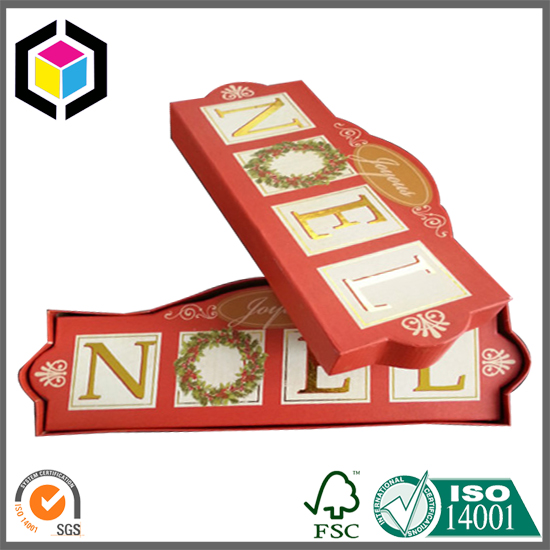 Special Shape Fancy Christmas Cardboard Gift Box with Lid