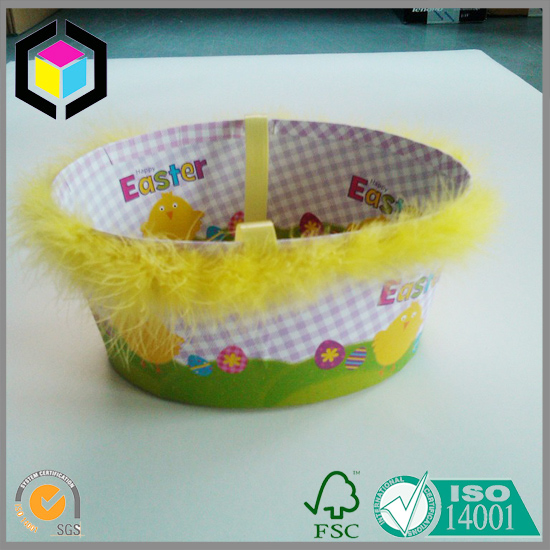 Egg Basket Color Cardboard Box for Easter Gifts