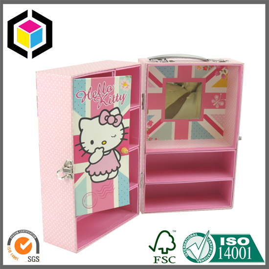 Top Handle Drawer Cardboard Paper Box with Mirror
