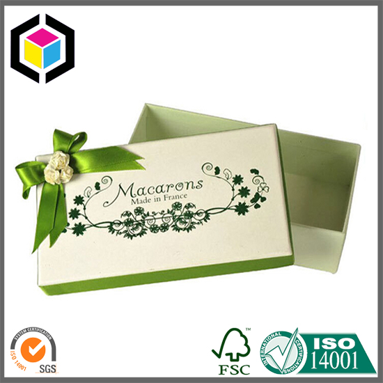 Color Printing Macarons Cardboard Paper Box with Lid