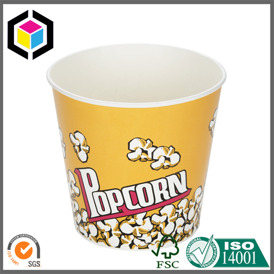 Custom Colors Design Print Paper Popcorn Bucket Box