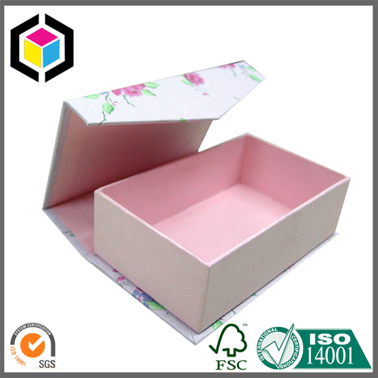 Lid Hinged Magnet Close Cardboard Gift Paper Box