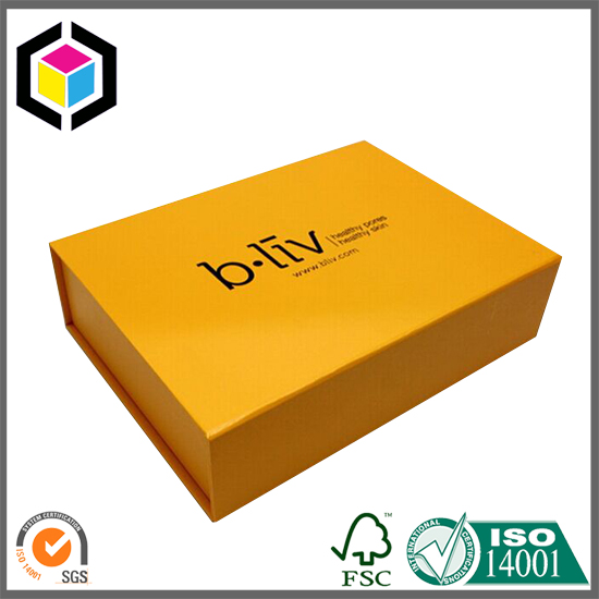 Matt Yellow Color Rigid Cardboard Paper Gift Box