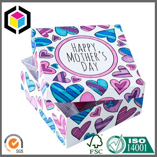 Color Printing Rigid Cardboard Paper Mothers Day Gift Box