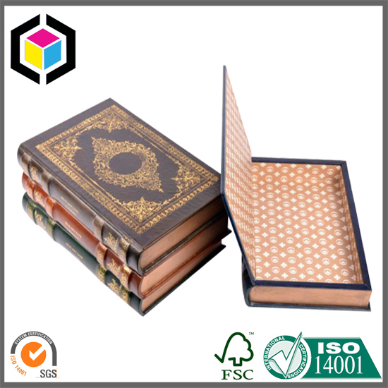 Chipboard Book Shaped Stationery Box Gift Paper Box
