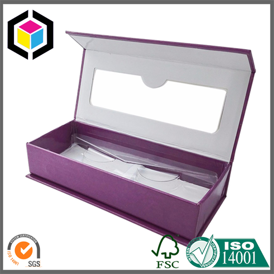 OEM Color Print Eyelash Cardboard Paper Gift Box with Window