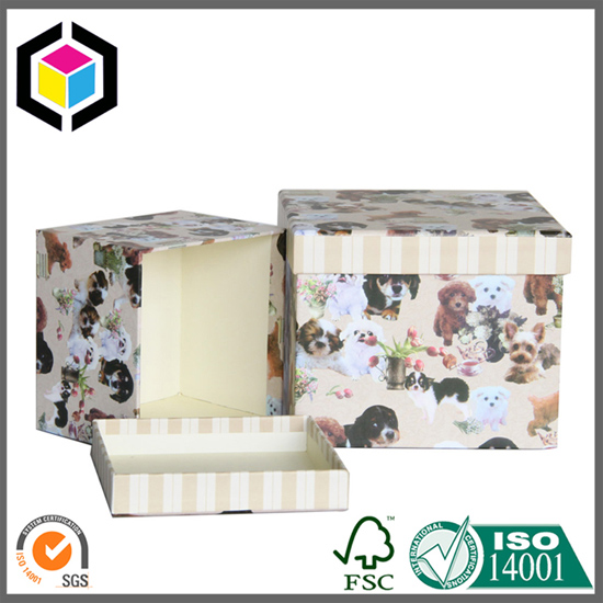 Two Pieces Cardboard Jewelry Storage Paper Gift Box with Lid