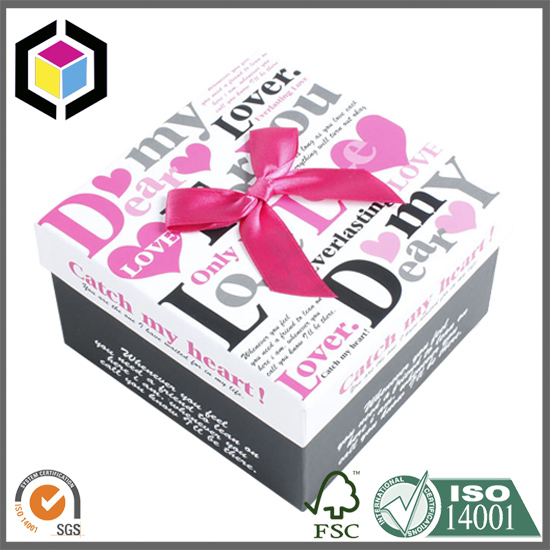 Valentine Day Colorful Print Cardboard Paper Gift Box