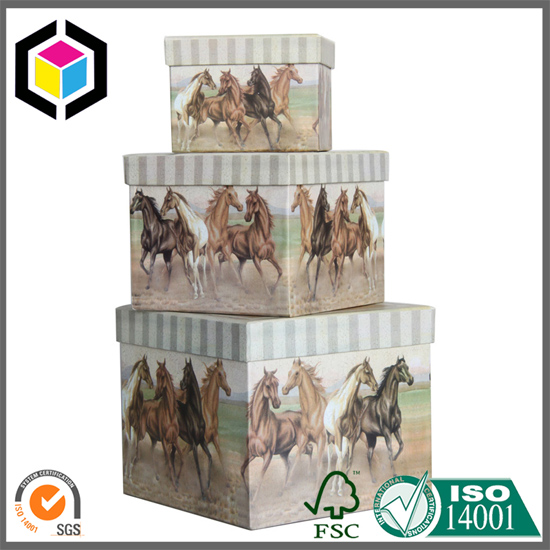 Small Size Two Pieces Rigid Paper Gift Packaging Box Set
