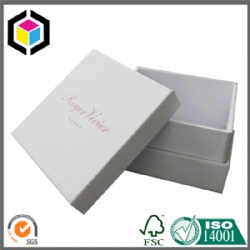 White Color Small Size Cardboard Paper Jewelry Gift Box