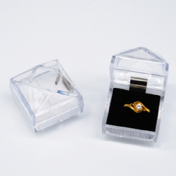 Transparent Rigid Acrylic Rigid Gift Box with Inlay Shangai