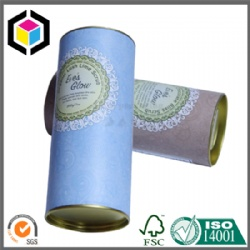 Cylinder Round Shape Color Print Paper Tube with Metal Lid China