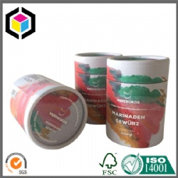Customized CMYK Full Color Cylinder Round Paper Tube China
