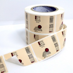 Custom Color Print Wine Labels Roll Shanghai China
