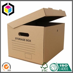 Kraft Corrugated Cardboard Storage Box