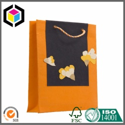 Orange Color Print Garment Gift Paper Bag