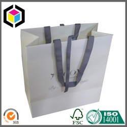Luxury Ribbon Handle Kraft Paper Bag
