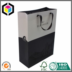 Cotton Handle Matte Color Printed Paper Bag