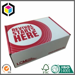 Red Color Flexo Print Paper Mailing Corrugated Box