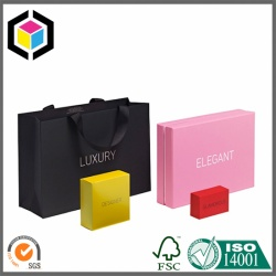 Silver Foil Print Luxury Retail Promotion Paper Bag