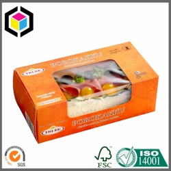 Transparent Plastic Window Food Paper Box